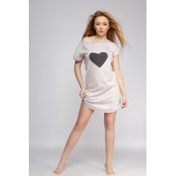 Koszulka Love beżowa