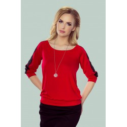 Bluzka Fabia Czerwono-czarny