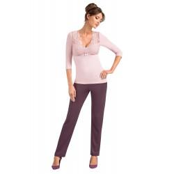 Piżama Simone Powder Pink -...