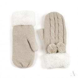 Rękawiczki Antarktyda Beżowe